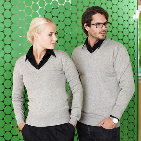 Sweater med V-hals