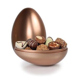 Metalæg luksus chokolade og æg