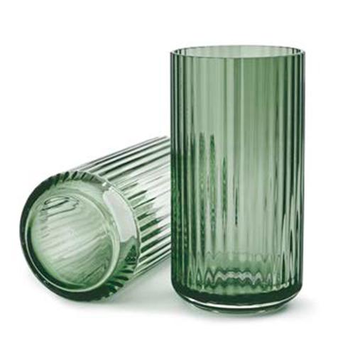 Lyngbyvasen glas Copenhagen green