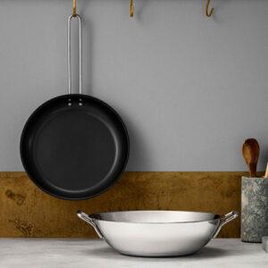 Eva Trio rustfrit stål stegepande og wok