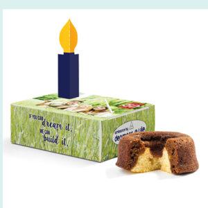 Mini kage i tillykke boks