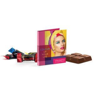 Chokolade promotion card Midi