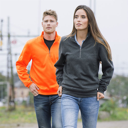 Basic sweatshirt half zip