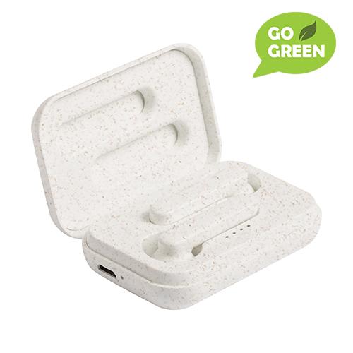 Høretelefon i økologisk hvedstrå plastik.
