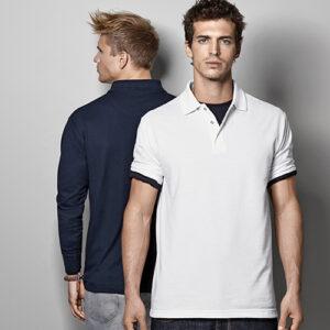 Pro Wear Polo med lange ærmer og trykknap