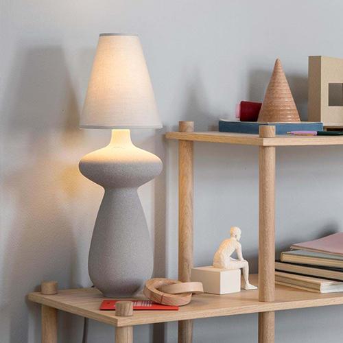 Kähler Balustre bordlampe grå