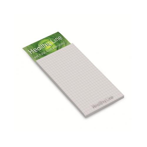 Memoblok / Sticky note med magnet