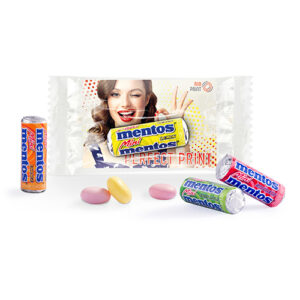 Mentos Mini promotion card